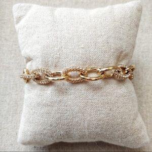 Stella & Dot Christina Link gold bracelet